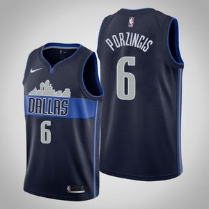 Dallas Mavericks #6 Kristaps Porzingis Jersey